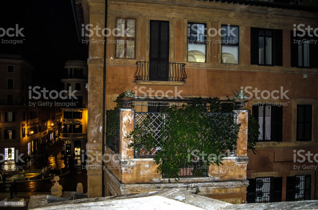 Residential building in Rome stock photo