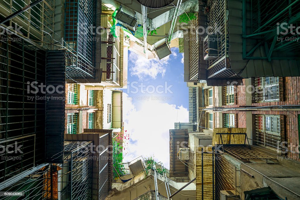 residential building in taipei stock photo