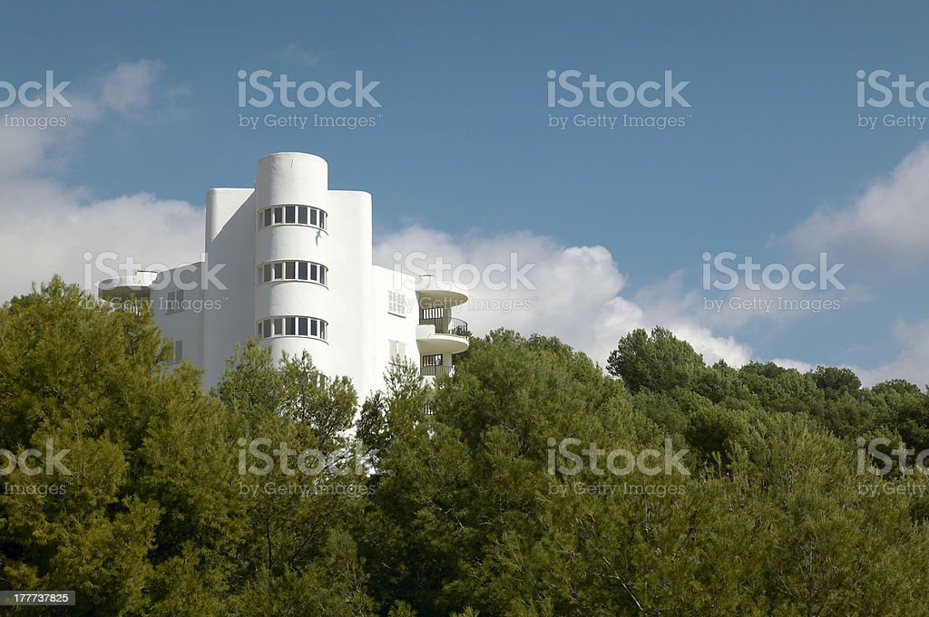 Residential building of vacations royalty-free stock photo