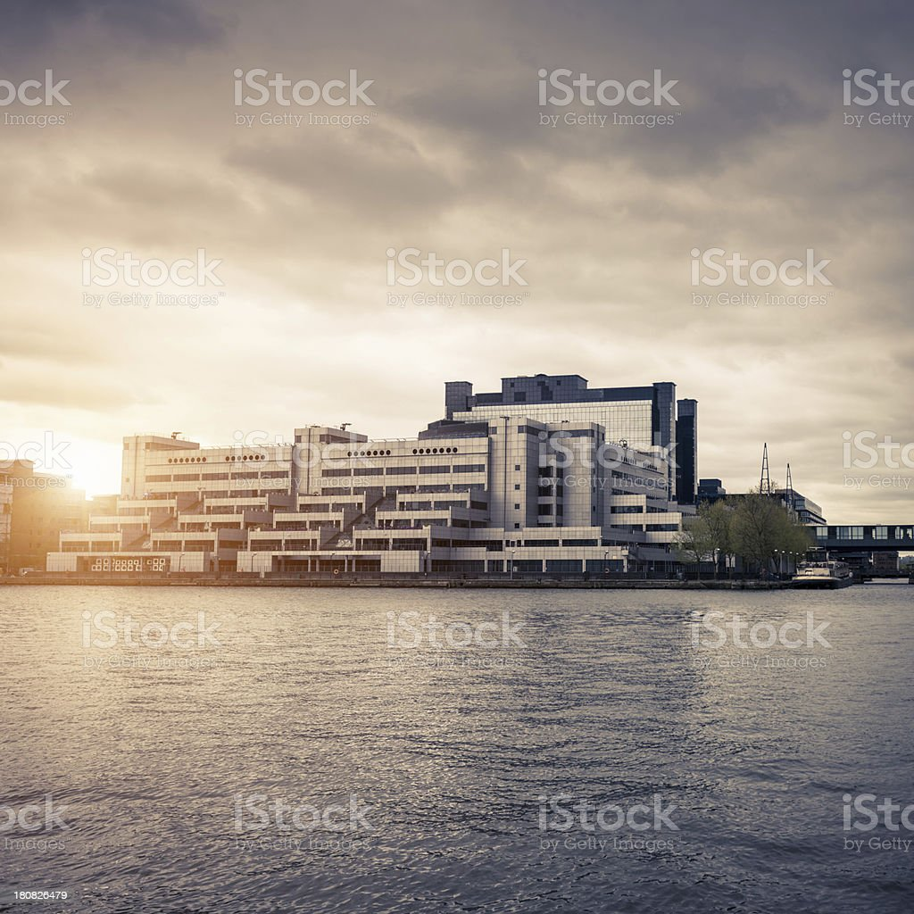 residential building on canary wharf royalty-free stock photo