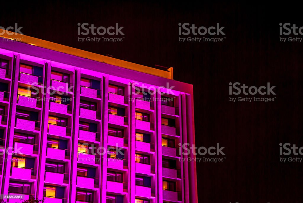 residential building - pink color stock photo