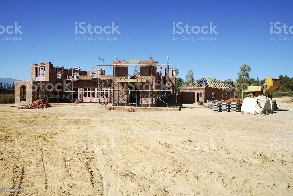 Residential Building Site royalty-free stock photo