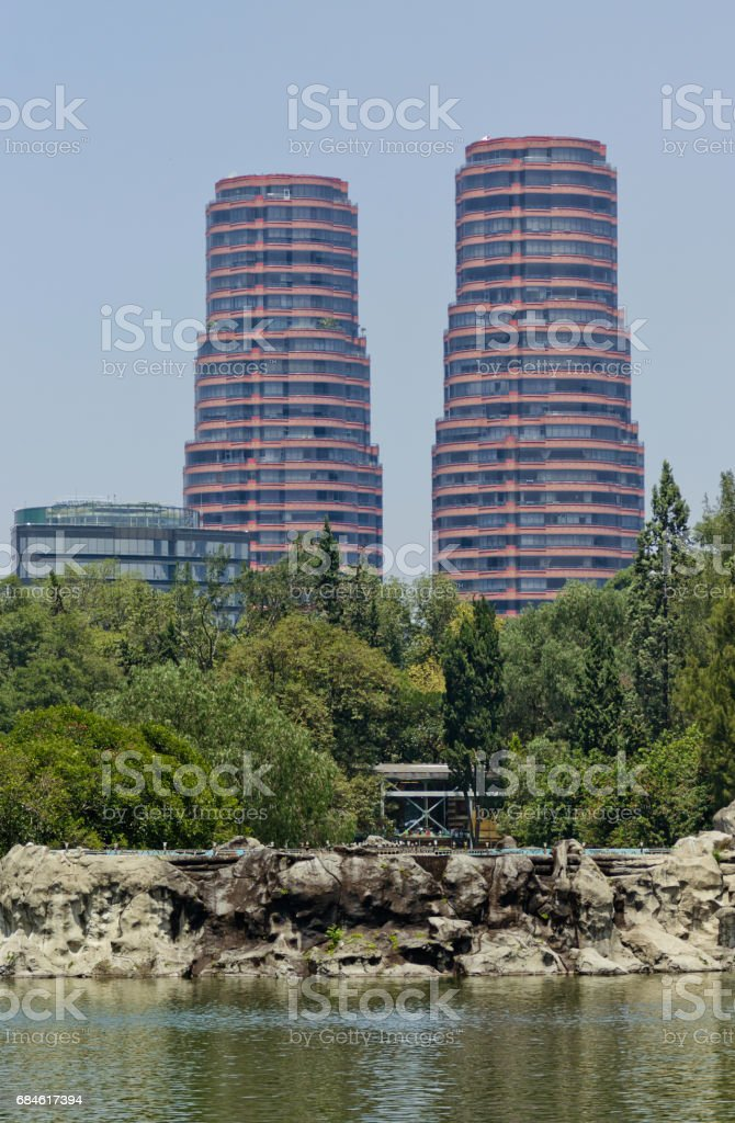 Residential buildings at Mexico city stock photo