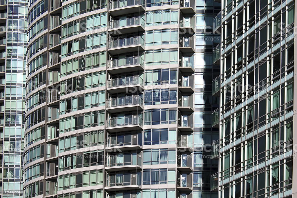 Residential buildings closeup royalty-free stock photo