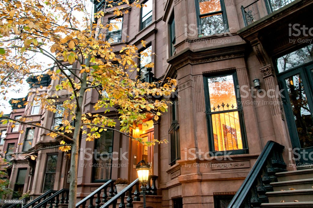 Residential buildings in Brooklyn borough, New York City stock photo
