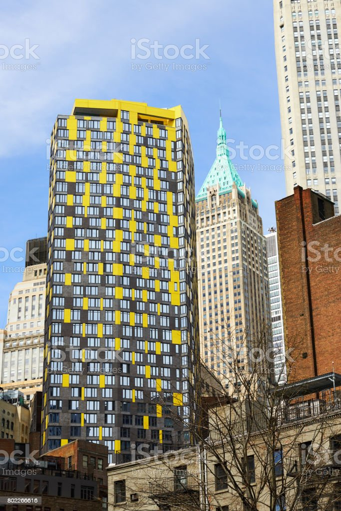Residential buildings in New York City',Manhattan stock photo