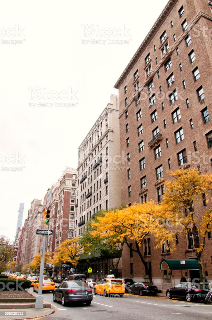 Residential buildings, New York City stock photo