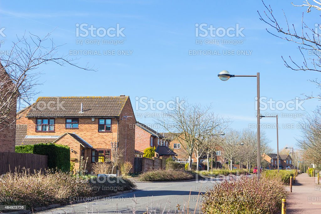 Residential buildings of Milton Keynes stock photo