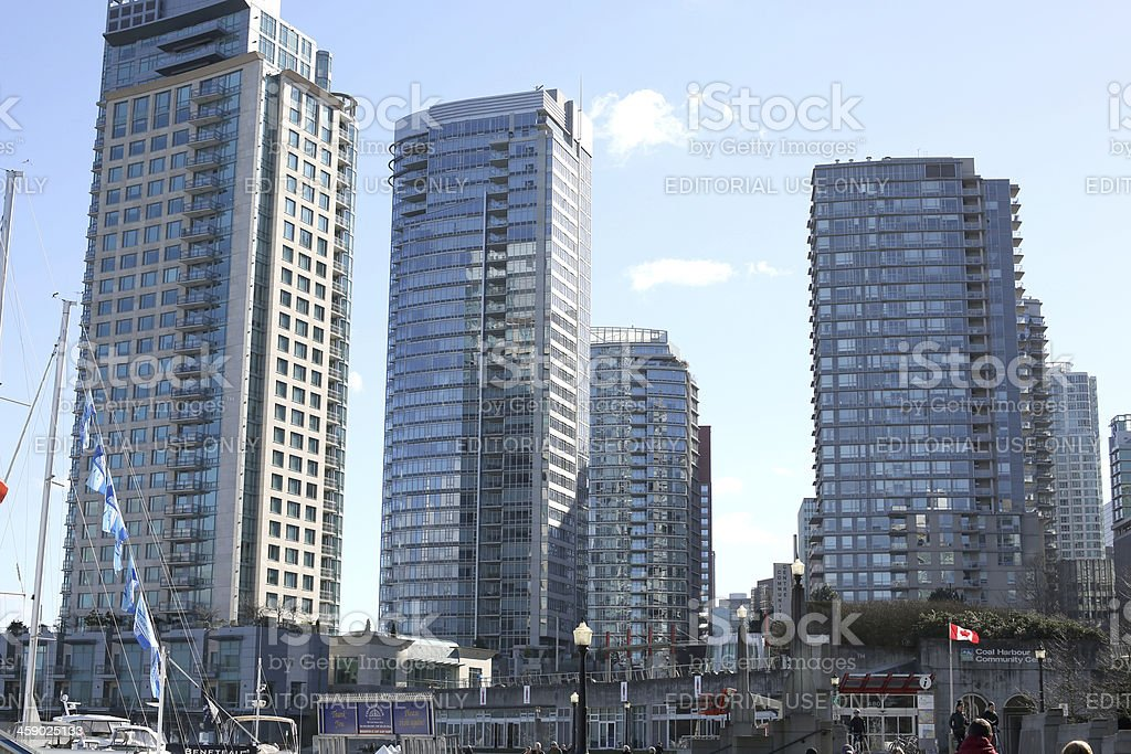 Residential Buildings on Vancouver's Cordova Street, British Columbia, Canada royalty-free stock photo