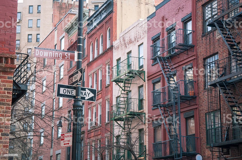 Residential buildngs in West Village stock photo