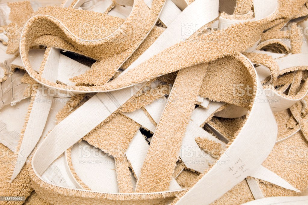 Residential Carpet Scrap Background royalty-free stock photo