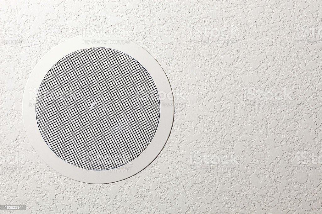 Residential Ceiling Surround Sound Speaker stock photo