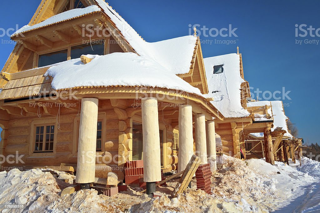 Residential complex under construction royalty-free stock photo