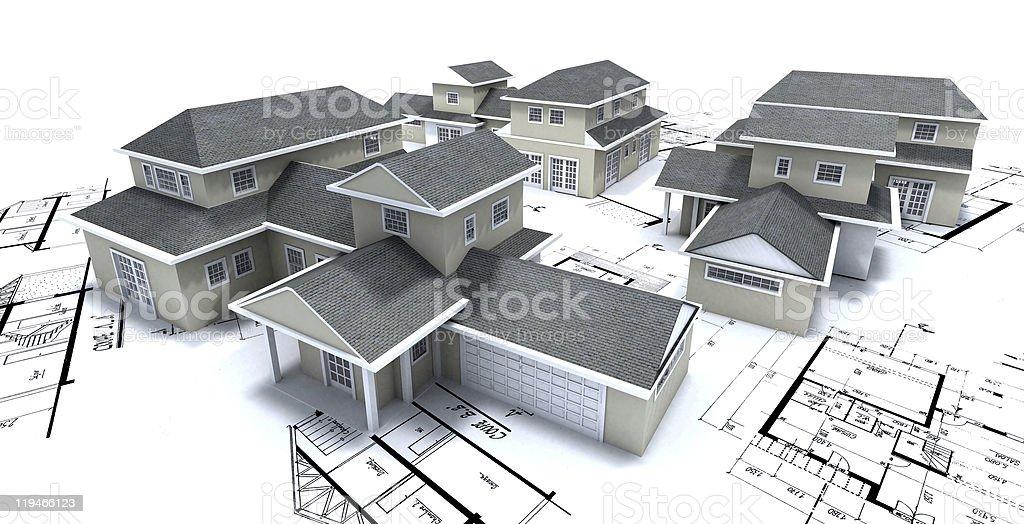 Residential development royalty-free stock photo