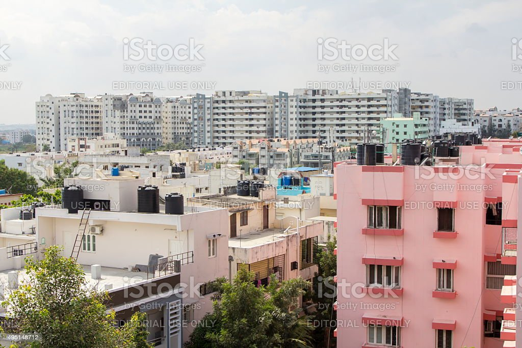 Residential district, Hyderabad, India stock photo