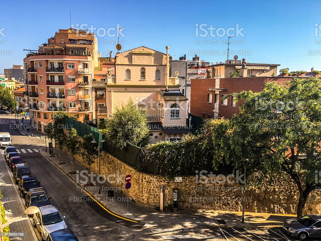Residential district in Barcelona, Spain stock photo