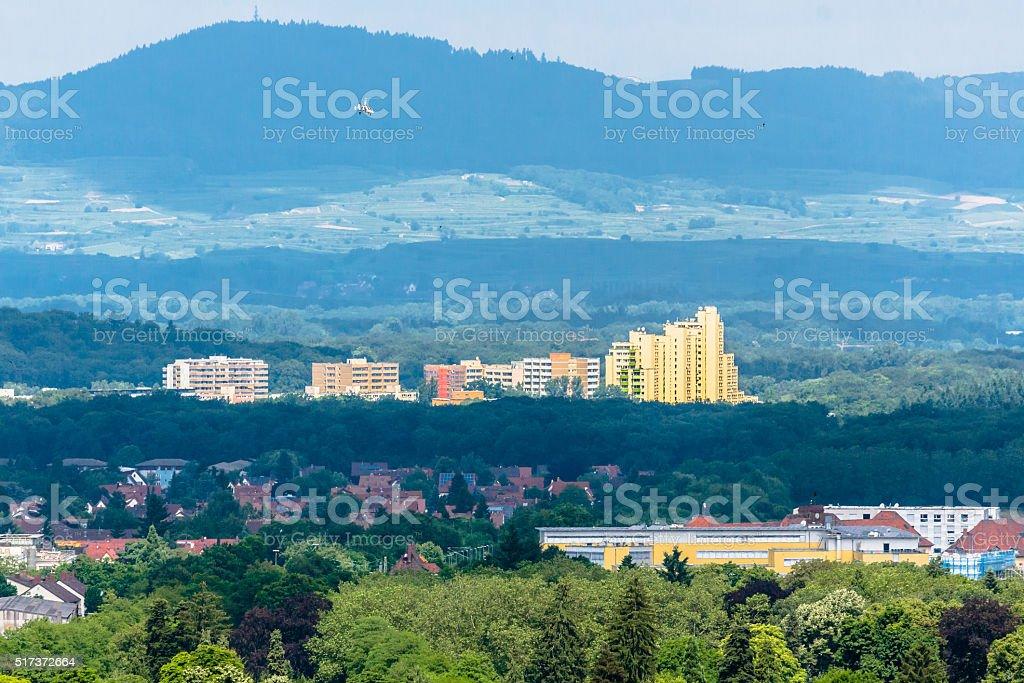 Residential District in Freiburg im Breisgau stock photo