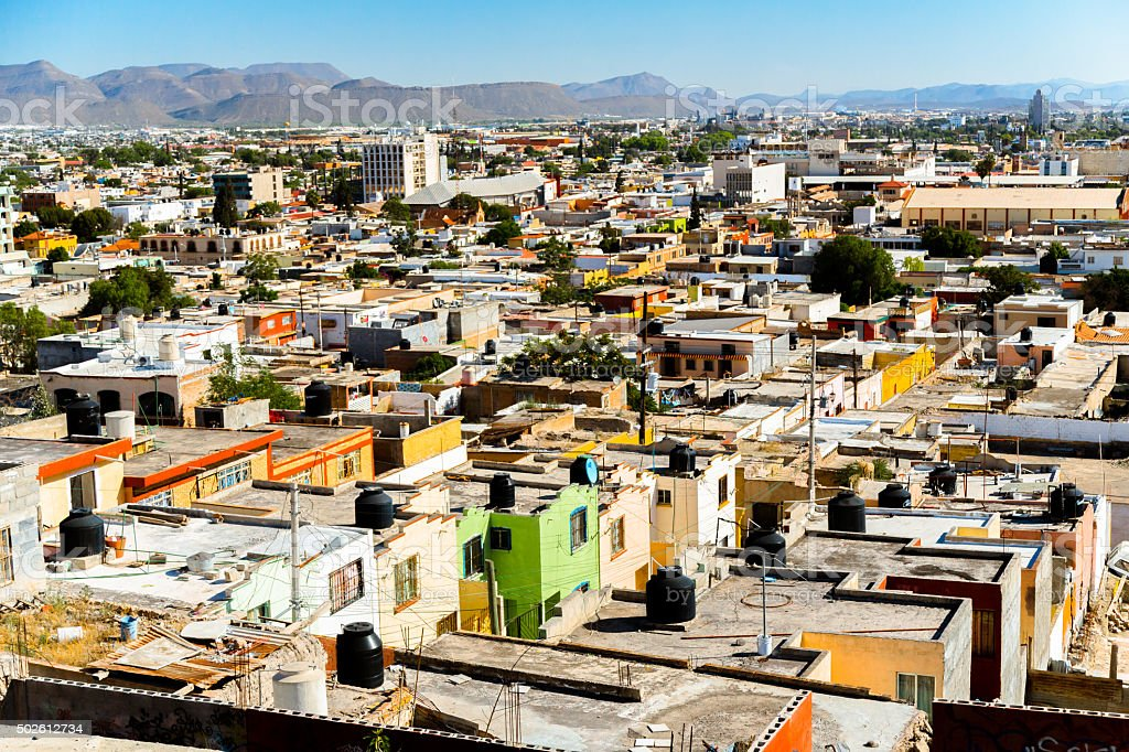 Residential District in Saltillo stock photo