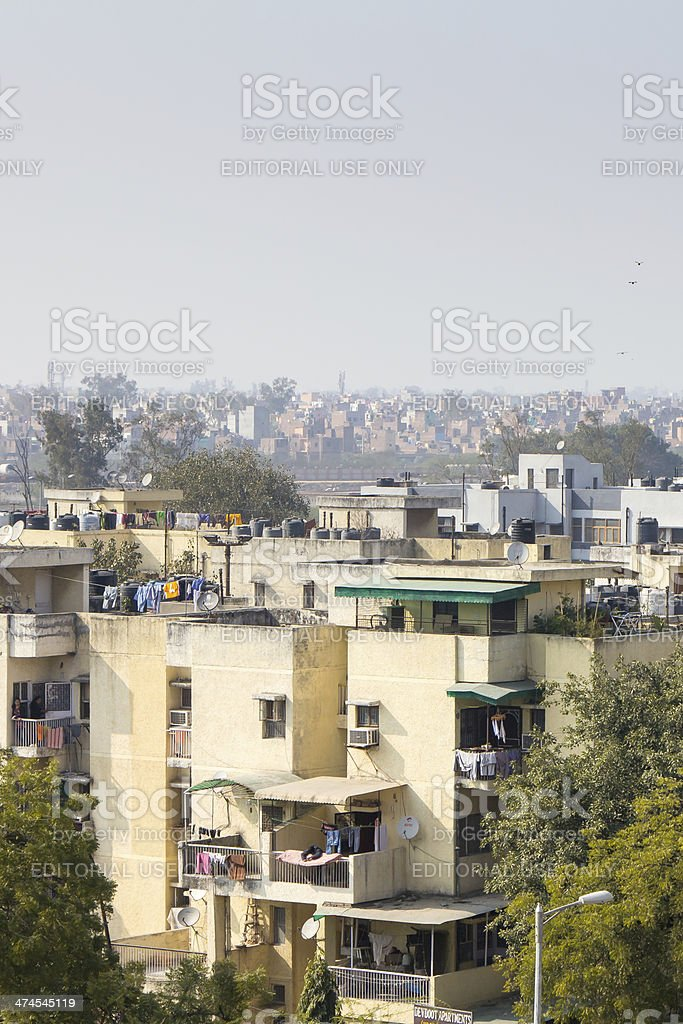 Residential district, New Delhi, India royalty-free stock photo
