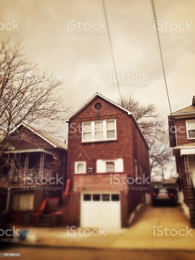 Residential District New York royalty-free stock photo