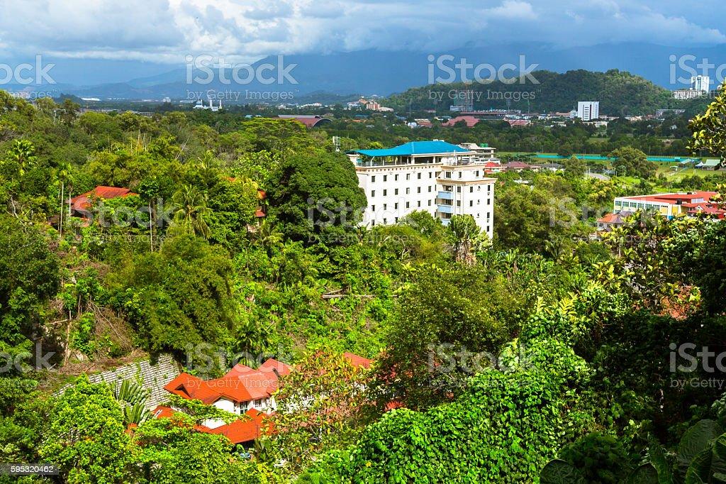 Residential District of Kota Kinabalu stock photo
