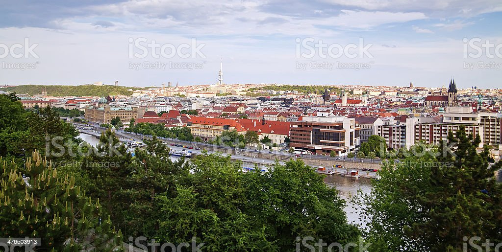 Residential District of Prague royalty-free stock photo