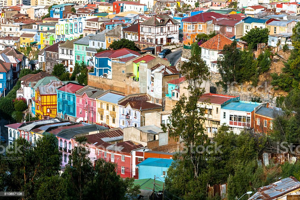Residential District of Valparaiso stock photo