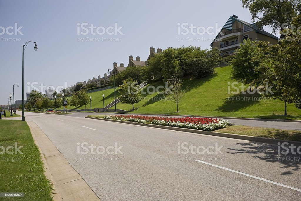 Residential District royalty-free stock photo