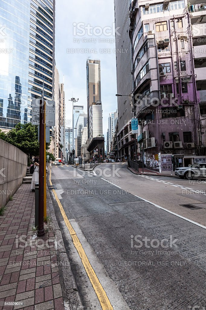 Residential districts in Hong Kong stock photo