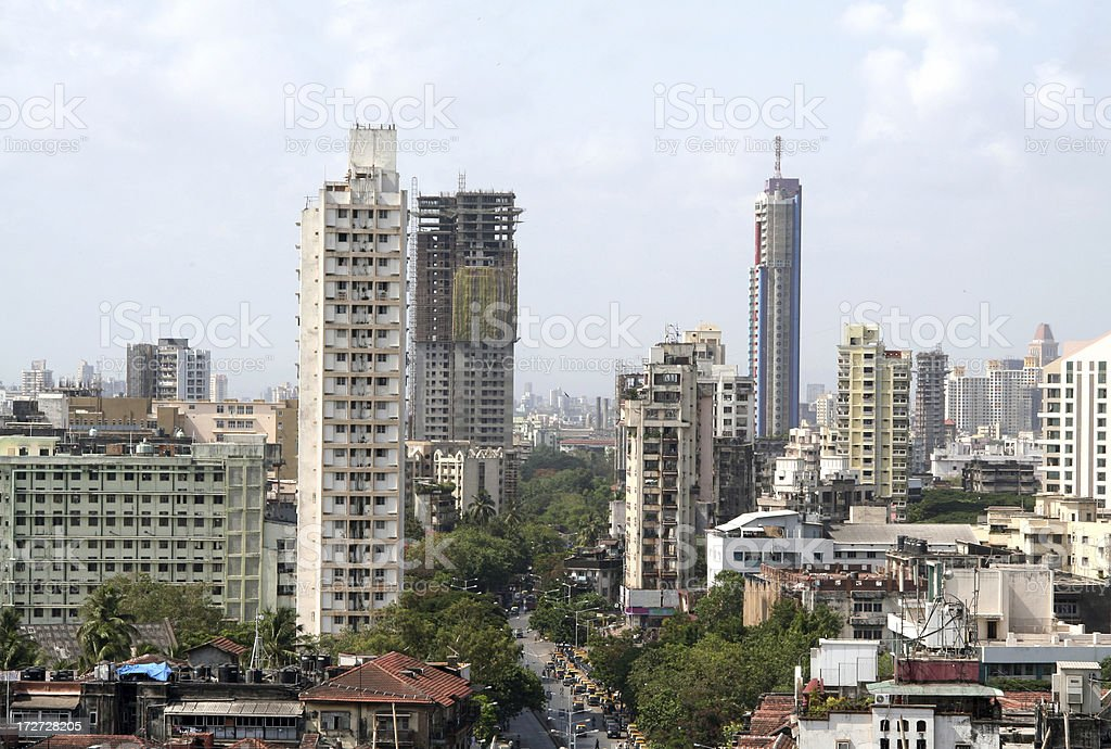 Residential high rises in Mumbai stock photo