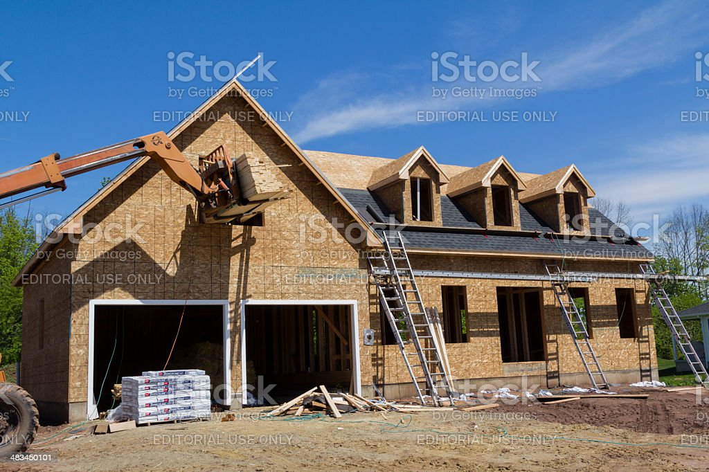 Residential Home Construction stock photo