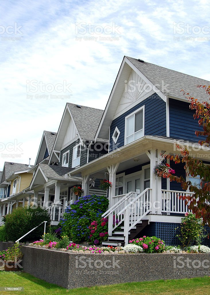 Residential Homes royalty-free stock photo