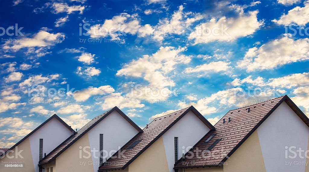Residential homes stock photo