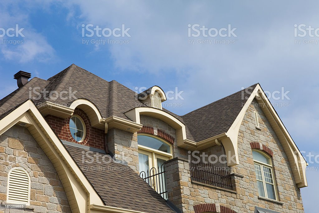 residential house close-up stock photo