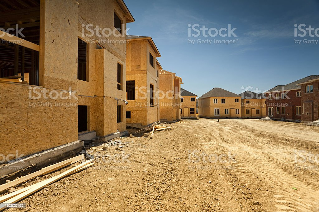 Residential house construction royalty-free stock photo