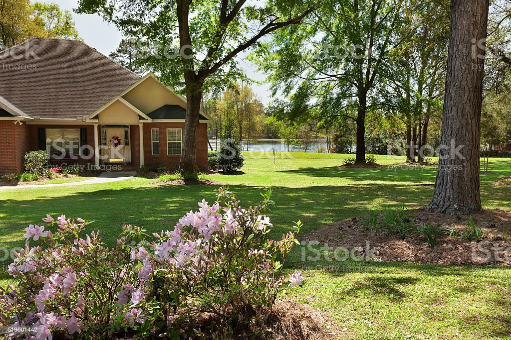 Residential House in North Florida stock photo