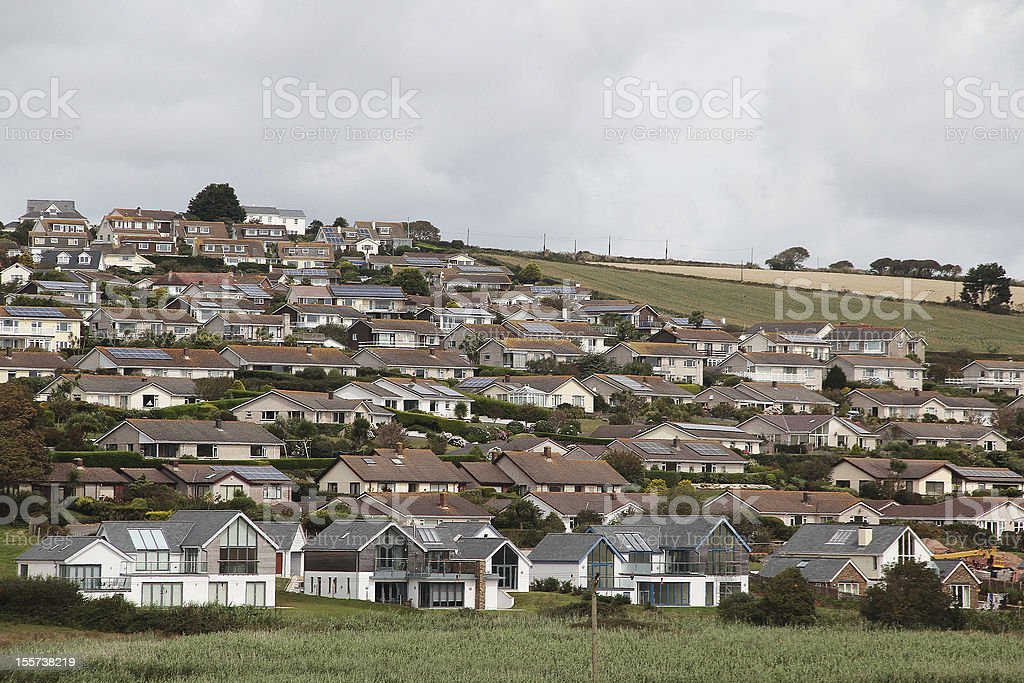 Di case residenziali in Bantham, Inghilterra foto stock royalty-free