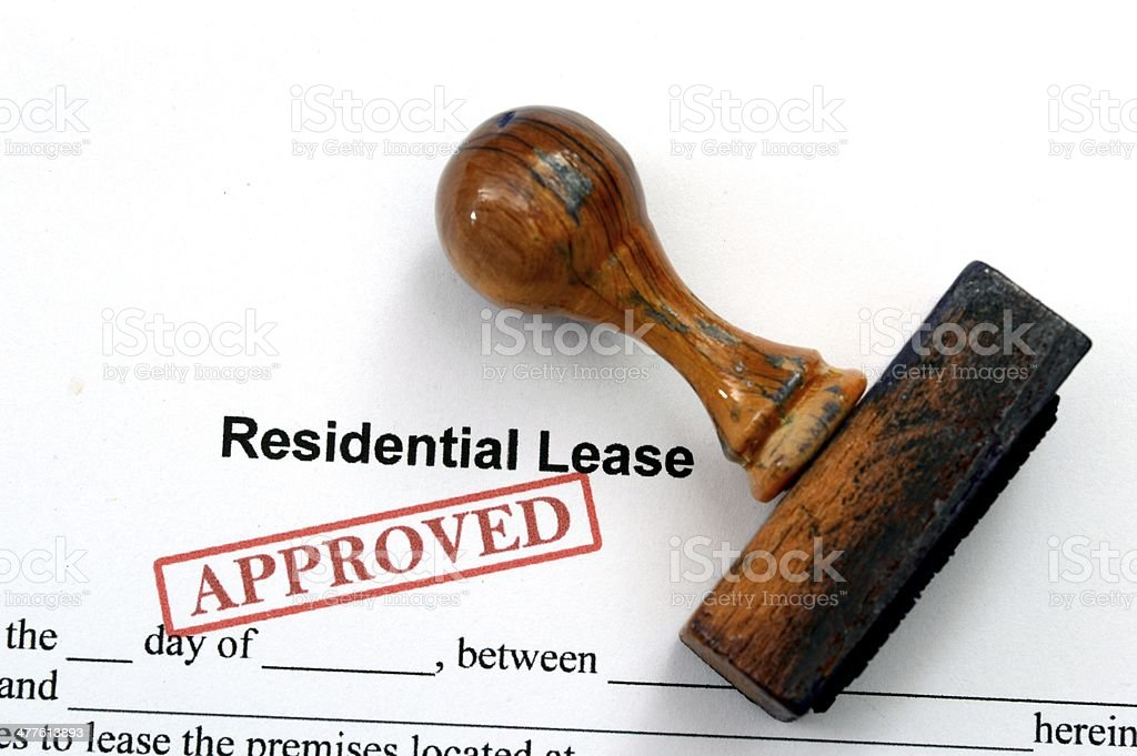 Residential lease - approved royalty-free stock photo