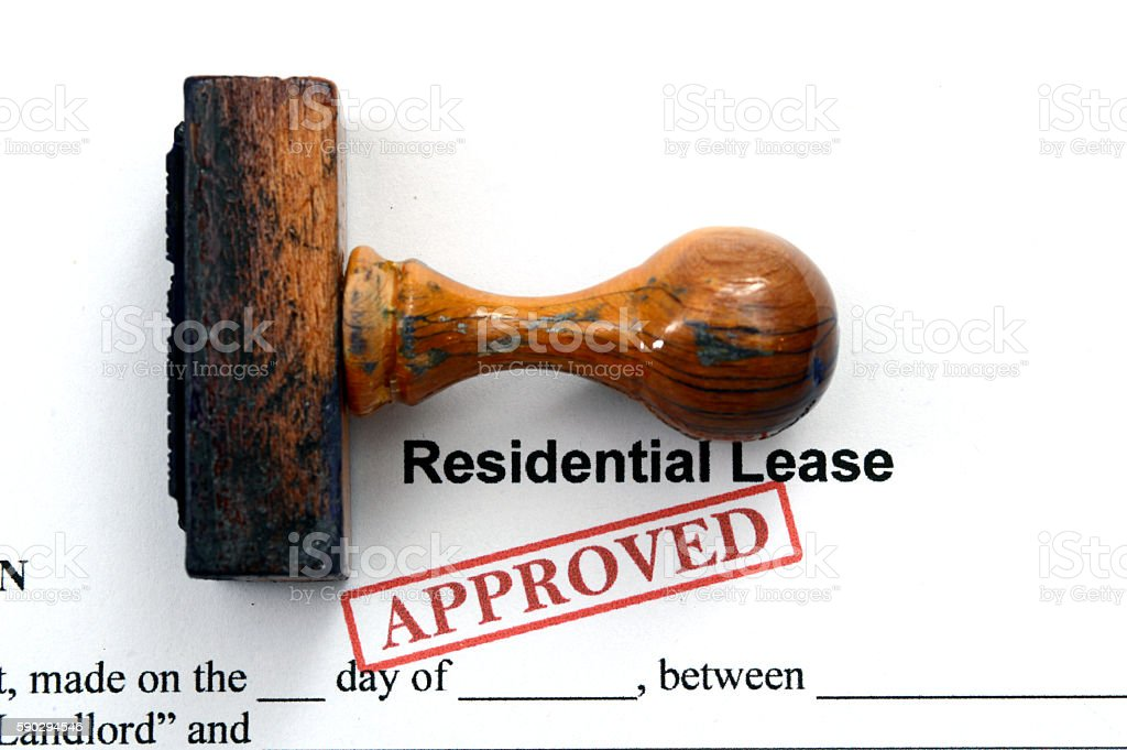 Residential lease - approved stock photo