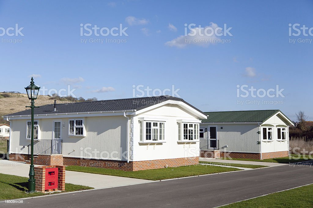 Residential mobile park homes royalty-free stock photo