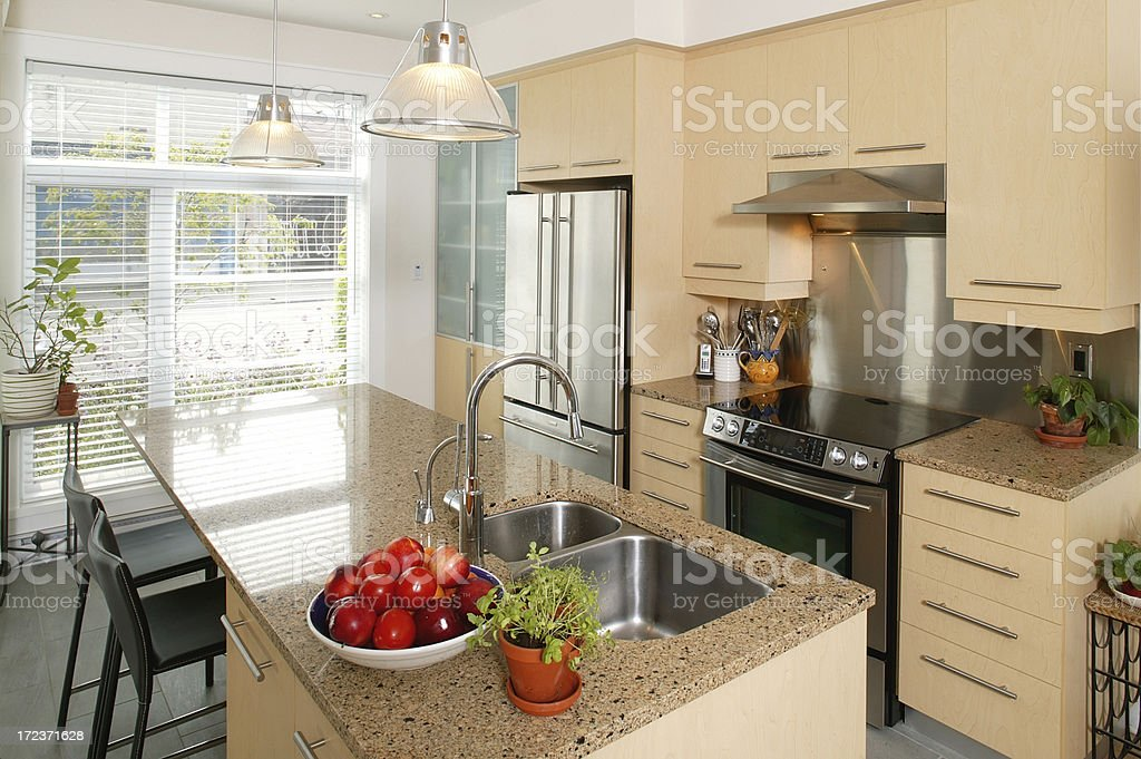 residential modern kitchen royalty-free stock photo