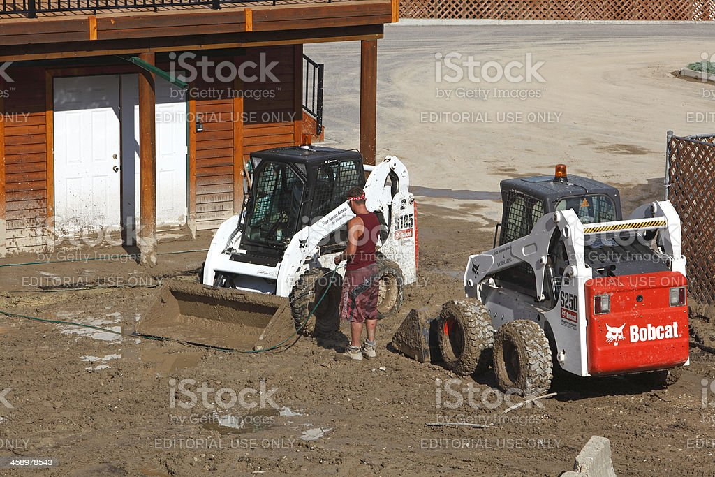 Residential Mudslide Clean Up royalty-free stock photo