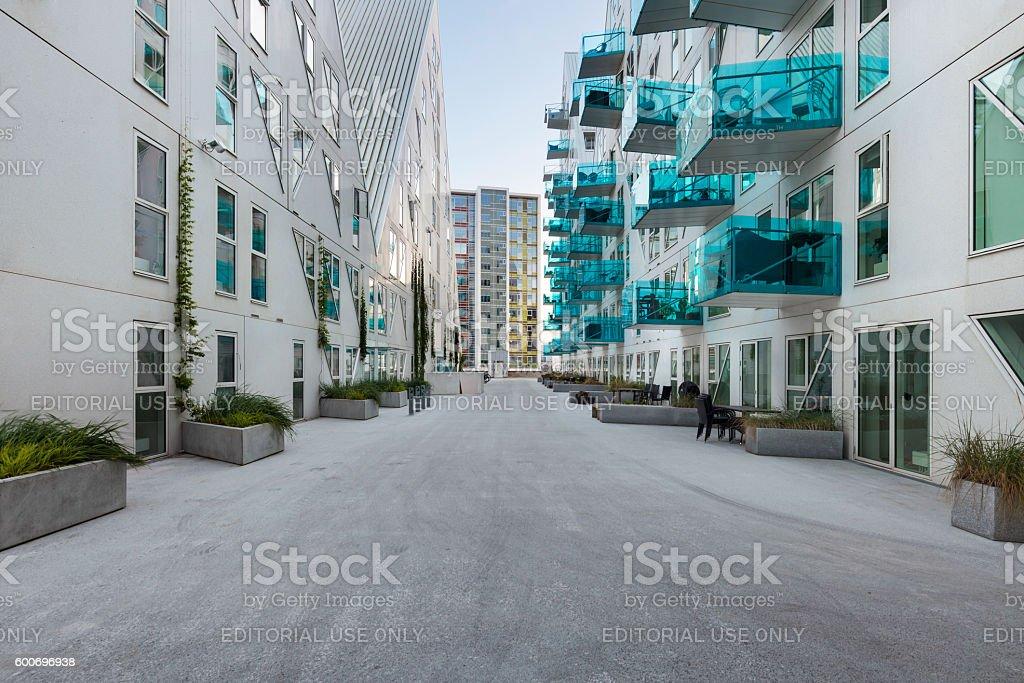 residential neighborhood, Denmark stock photo