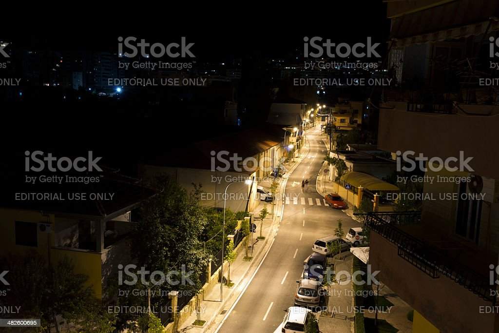 Residential neighborhood in Tirana Albania royalty-free stock photo