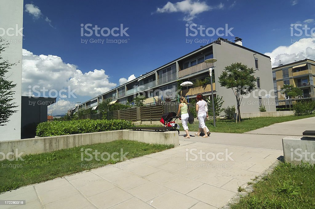 residential neighbourhood 01 royalty-free stock photo