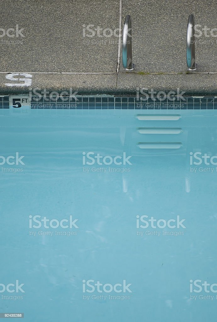 Residential pool stock photo