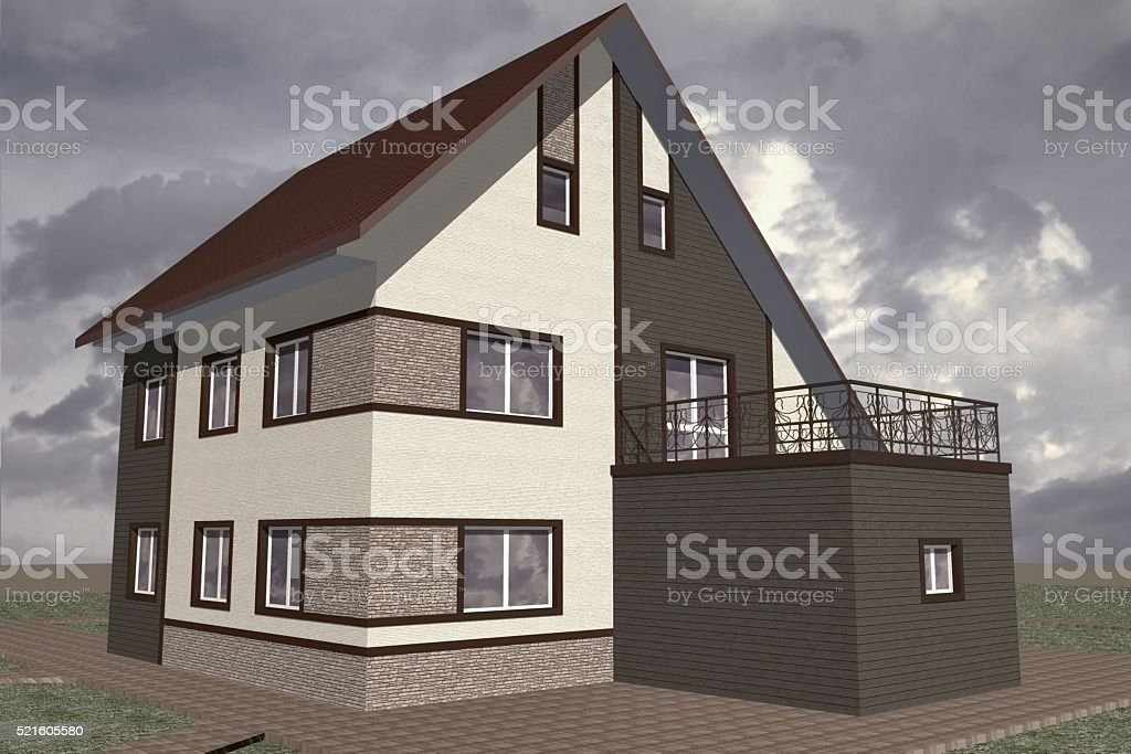 Residential Private House stock photo