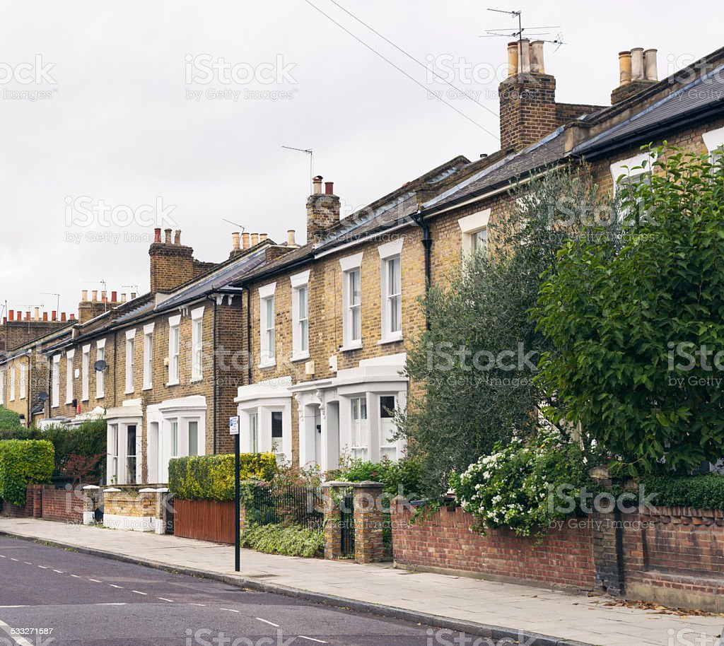 Residential properties in East London stock photo