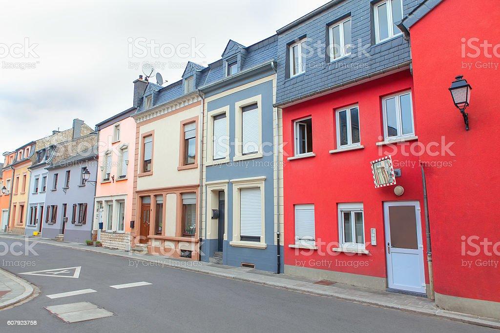 residential quarter in Europe stock photo