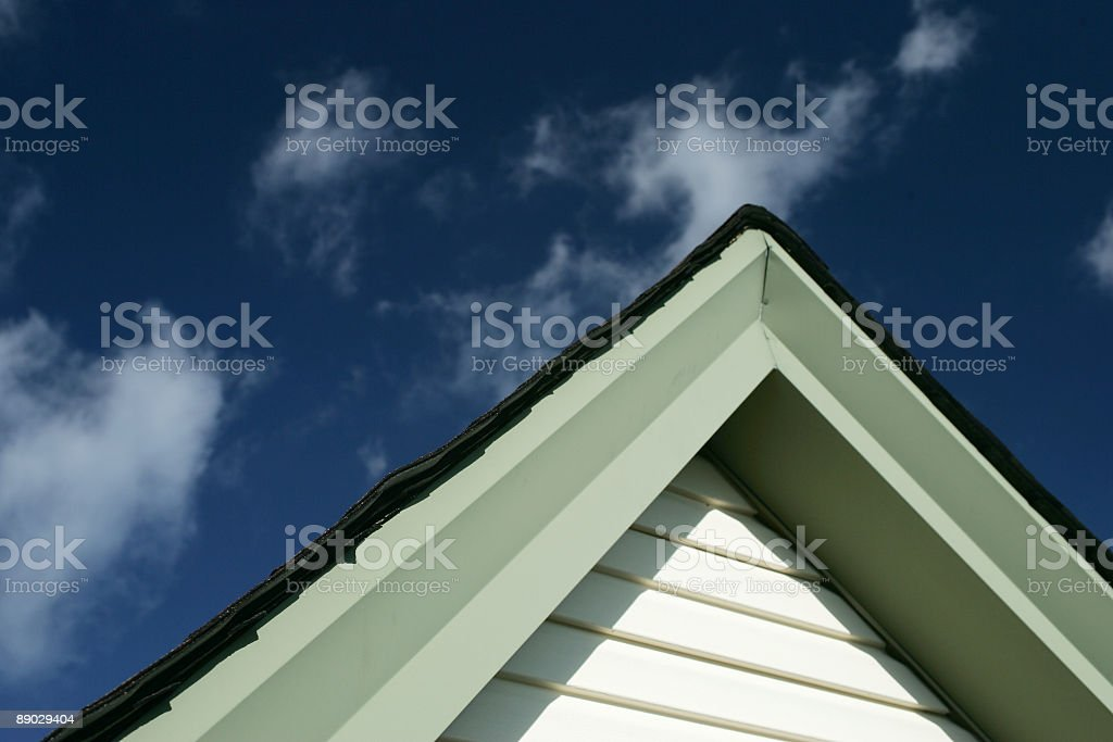 Residential roof detail royalty-free stock photo